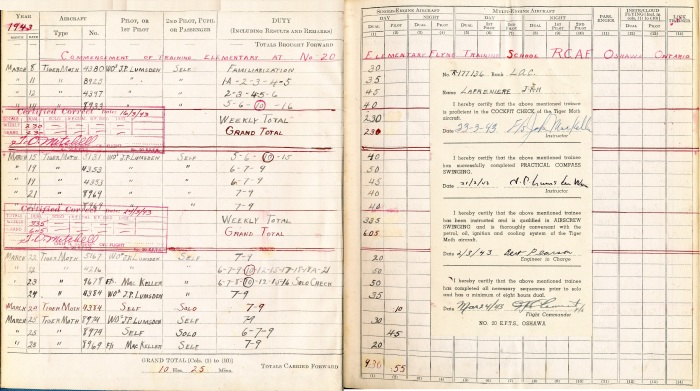 Logbook pages 3-4