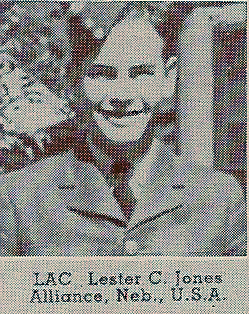 lester charles jones in uniform