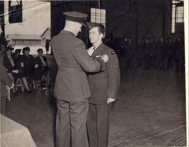 Gagnon gets his wings - April 1942