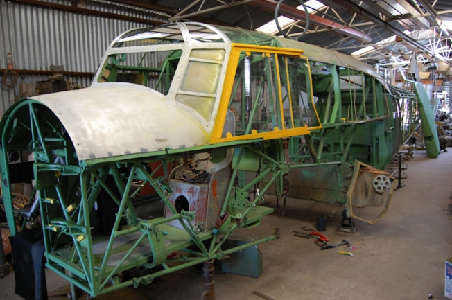 Avro Anson restoration project Nhill Aviation Heritage Centre Australia