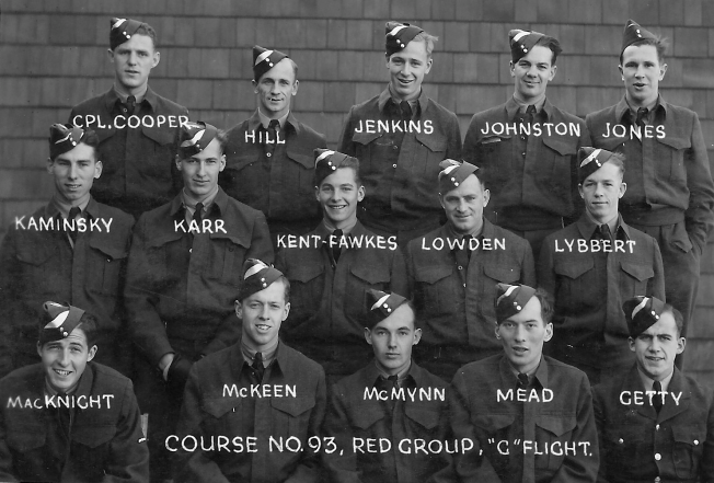 No. 7 S.F.T.S. Fort Macleod - LACs form Course No. 93 Red Group G Flight