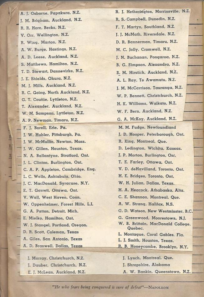class 44 Dunnville December 6 1941