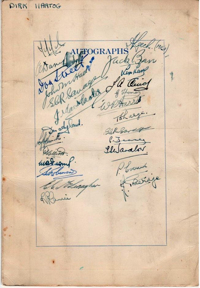 83 Navigators graduation class autographs