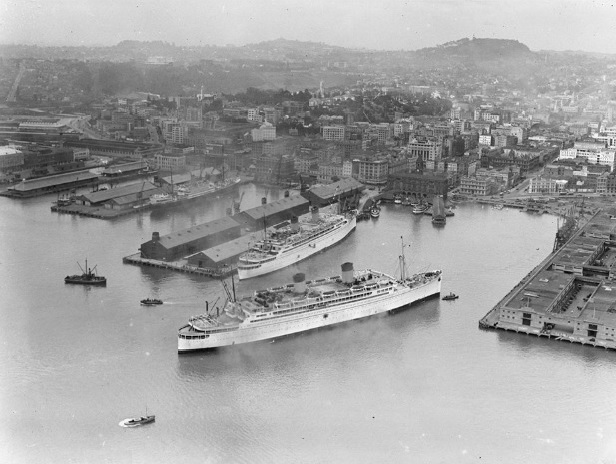 Monterey arriving in Auckland 1933
