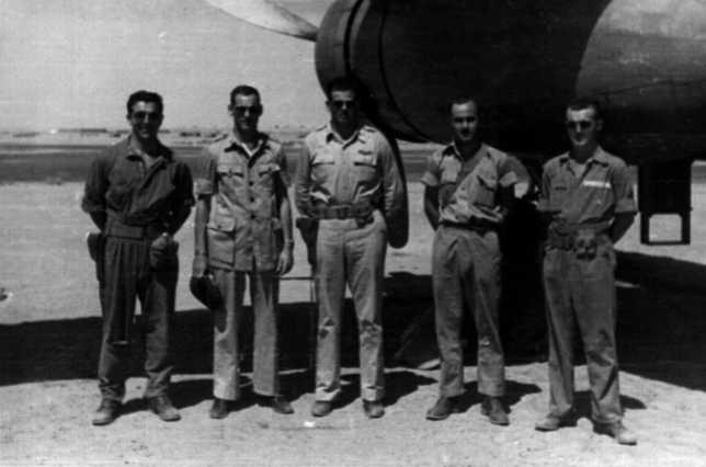 left to right: Lt. Muska, Lt Wilson, Capt Young, Sgt Fleck, Sgt Wilson