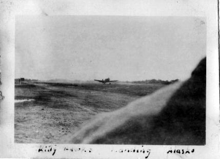 Kitty Hawk (sic) landing Alaska