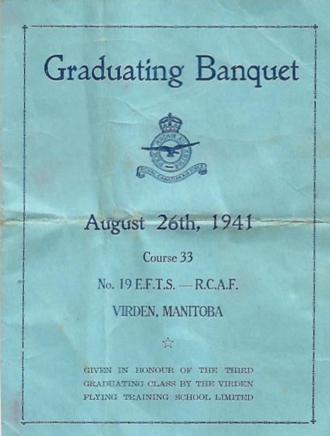 Graduating Banquet 26 August 1941
