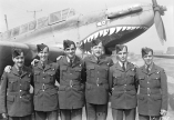 PL-8928 20 May 1942 Graduation Group , Course #30, 1&2, #9 Bombing and Gunnery School, Mont Joli, Quebec (L. to R.) (Montreal) R104923 LAC Gougeon, J.L.H.; R108367 LAC Reay, A.C.; R108479 LAC Brosseau, J.C.E.M.; R117636 LAC Bourque, F.G.; R79364 LAC Fraser, D.W.; R104845 LAC St. Michel, J.E.J.P.